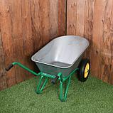 Тачка садово-строительная, двухколёсная: груз/п 180 кг, объём 90 л, пневмоколесо 360 мм, кузов 0,7 мм, фото 2
