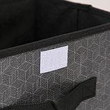 Короб для хранения с крышкой «Клод», 26×20×16 см, цвет графитовый, фото 3