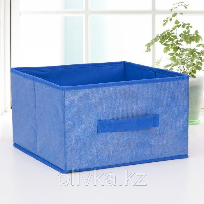 Короб для хранения «Фабьен», 29×29×18 см, цвет синий