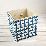 Короб для хранения «Северные мишки», 27×27×27 см, фото 2