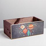 Деревянный ящик без ручки «Шарики», 24.5 × 14.5 × 9 см, фото 2