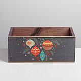 Деревянный ящик без ручки «Шарики», 24.5 × 14.5 × 9 см, фото 3