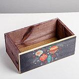 Деревянный ящик без ручки «Шарики», 24.5 × 14.5 × 9 см, фото 4