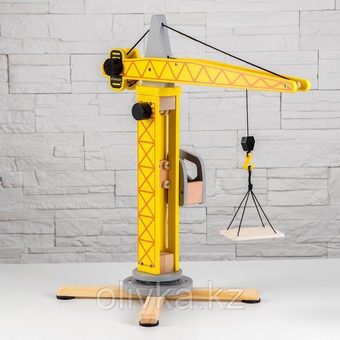 Игрушка из дерева «Кран» 14,5×51×22 см