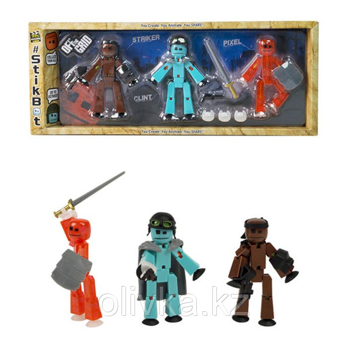Набор Stikbot. Off the Grid, Striker, 3 фигурки