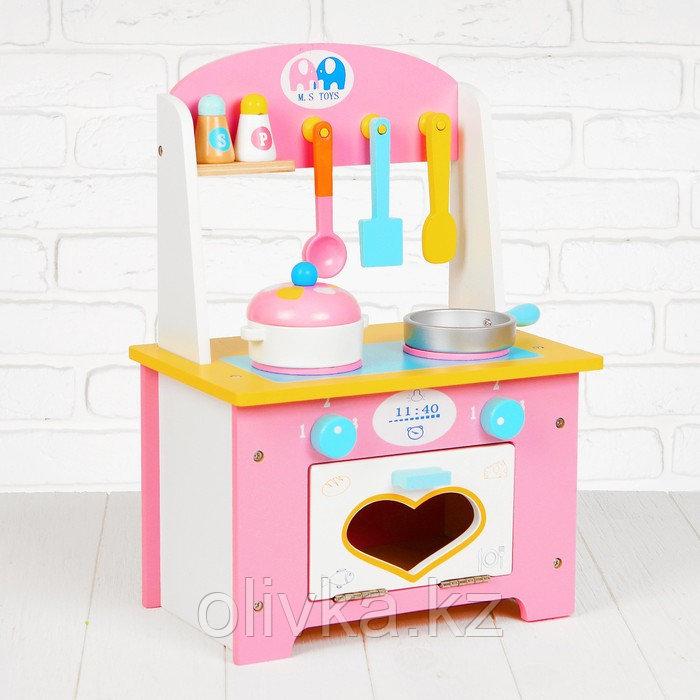 """Игровой набор """"Кухня с сердечком"""", деревянная посуда в наборе MSN17064"""