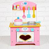 """Игровой набор """"Кухня с сердечком"""", деревянная посуда в наборе MSN17064, фото 2"""