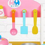 """Игровой набор """"Кухня с сердечком"""", деревянная посуда в наборе MSN17064, фото 4"""