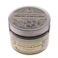 Мыло для бани Травы и сборы Агафьи 'Натуральное Сибирское', чёрное, 500 мл