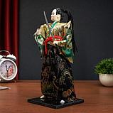 """Кукла коллекционная """"Самурай в кимоно и с повязкой"""", фото 2"""