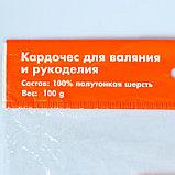 """Шерсть д/валяния """"Кардочес"""" 100% полутонкая шерсть 100гр (29 мкр, дл. 74, 1650 красн.мускат), фото 4"""