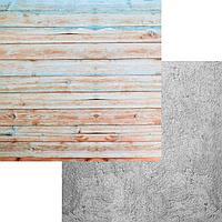 """Фотофон """"Цветные доски-Бетон"""" 45 х 45 см, переплетный картон"""