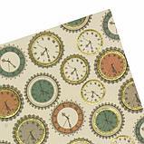 """Цветная WASHI-бумага д/декора """"ВИНТАЖ"""",15х15 см набор 12 листов, 6 дизайнов, рисовая бумага, фото 6"""