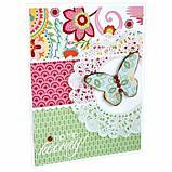 """Цветная WASHI-бумага д/декора """"ВИНТАЖ"""",15х15 см набор 12 листов, 6 дизайнов, рисовая бумага, фото 7"""