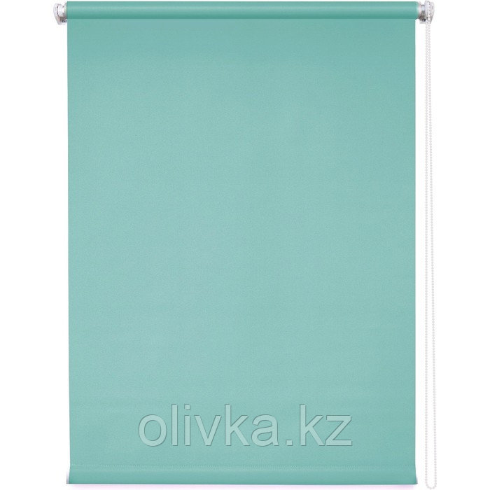 Рулонная штора «Плайн», 40 х 175 см, цвет аквамарин