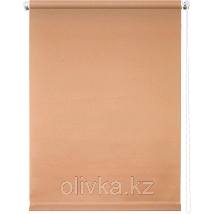 Рулонная штора «Плайн», 70 х 175 см, цвет кофейный