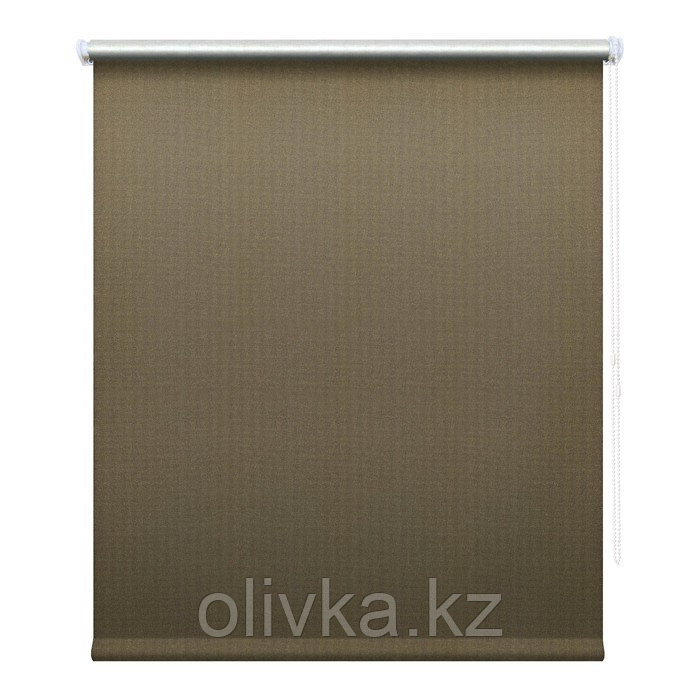 Рулонная штора «Сильвер», 50 х 175 см, блэкаут, цвет кофейный