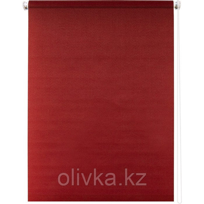 Рулонная штора «Плайн», 80 х 175 см, цвет красный