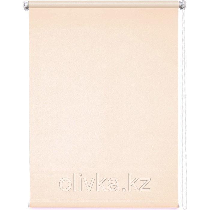Рулонная штора «Плайн», 90 х 175 см, цвет пудровый