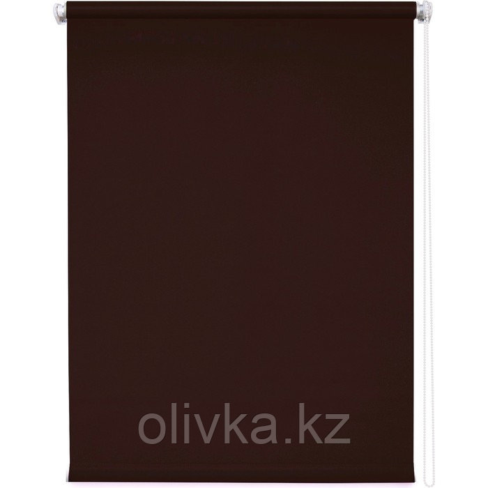 Рулонная штора «Плайн», 90 х 175 см, цвет тёмно-коричневый