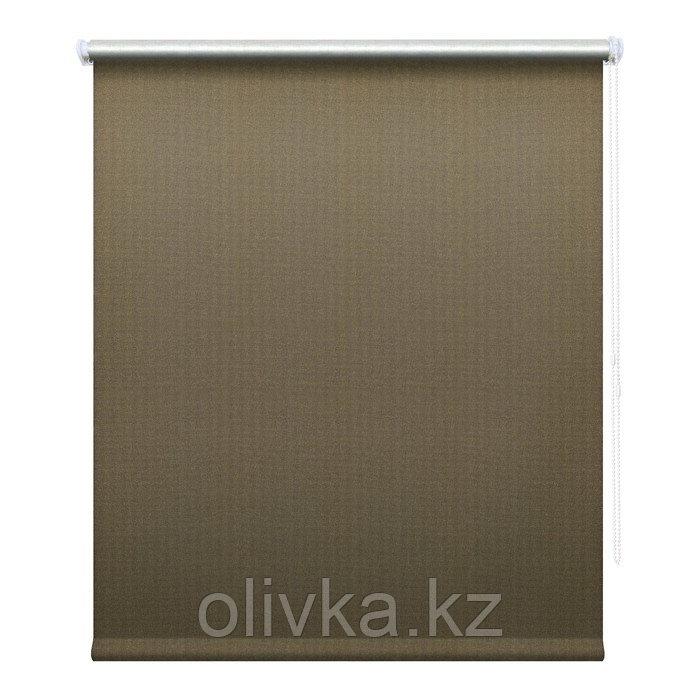 Рулонная штора «Сильвер», 60 х 175 см, блэкаут, цвет кофейный