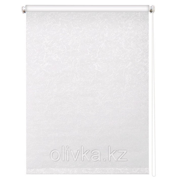 Рулонная штора «Фрост», 50 х 175 см, блэкаут, цвет белый