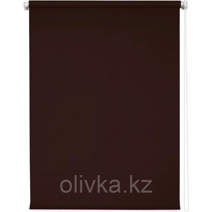 Рулонная штора «Плайн», 100 х 175 см, цвет тёмно-коричневый