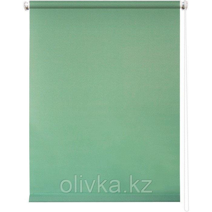 Рулонная штора «Плайн», 100 х 175 см, цвет светло-зелёный