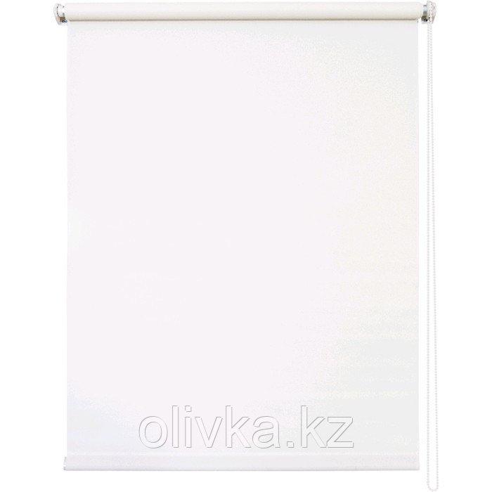 Рулонная штора «Плайн», 100 х 175 см, цвет белый
