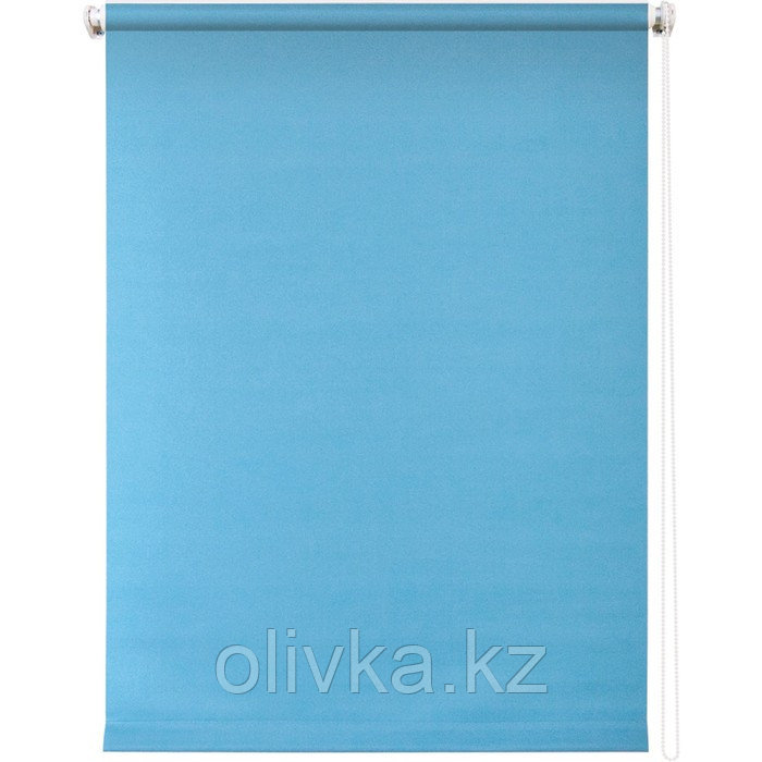 Рулонная штора «Плайн», 100 х 175 см, цвет голубой