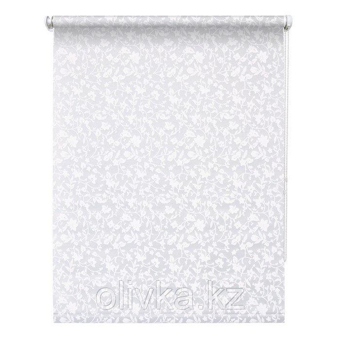 Рулонная штора «Лето», 80 х 175 см, цвет белый