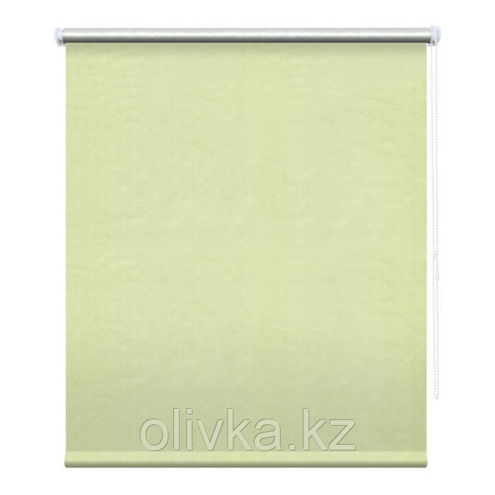 Рулонная штора «Сильвер», 100 х 175 см, блэкаут, цвет фисташковый