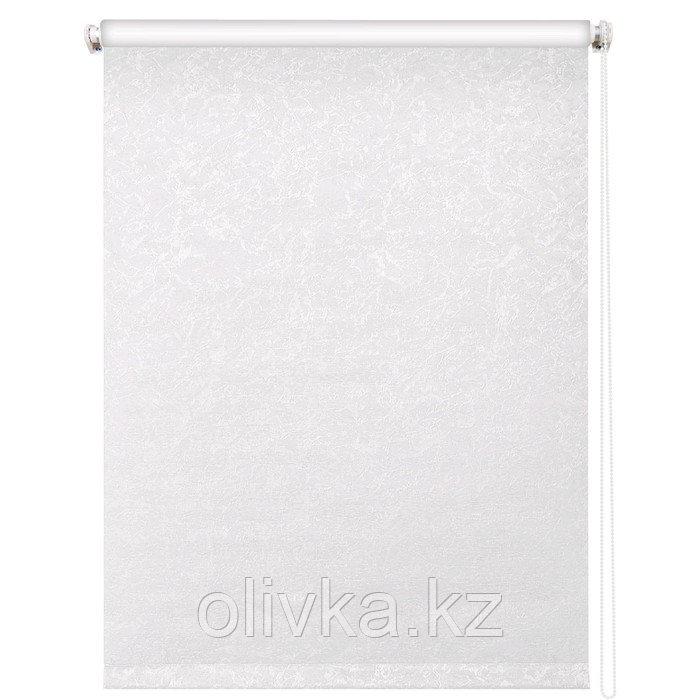 Рулонная штора «Фрост», 90 х 175 см, блэкаут, цвет белый