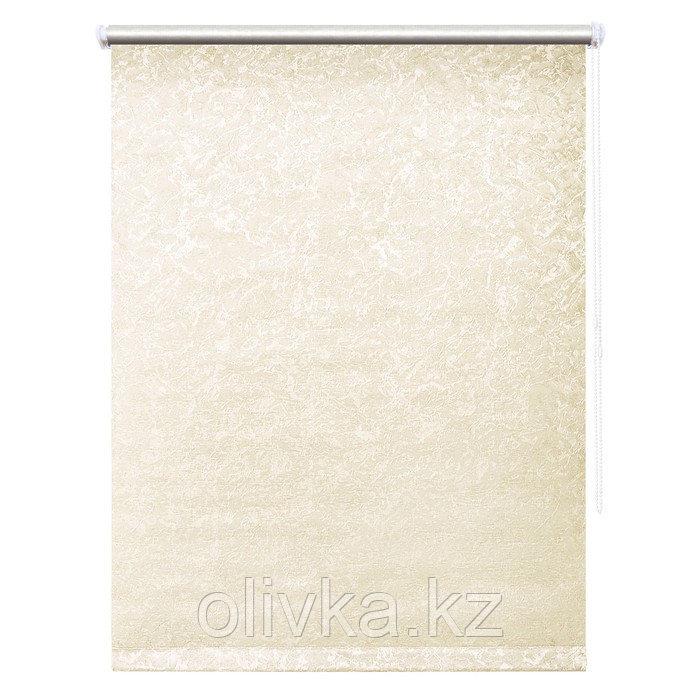Рулонная штора «Фрост», 90 х 175 см, блэкаут, цвет светло-бежевый