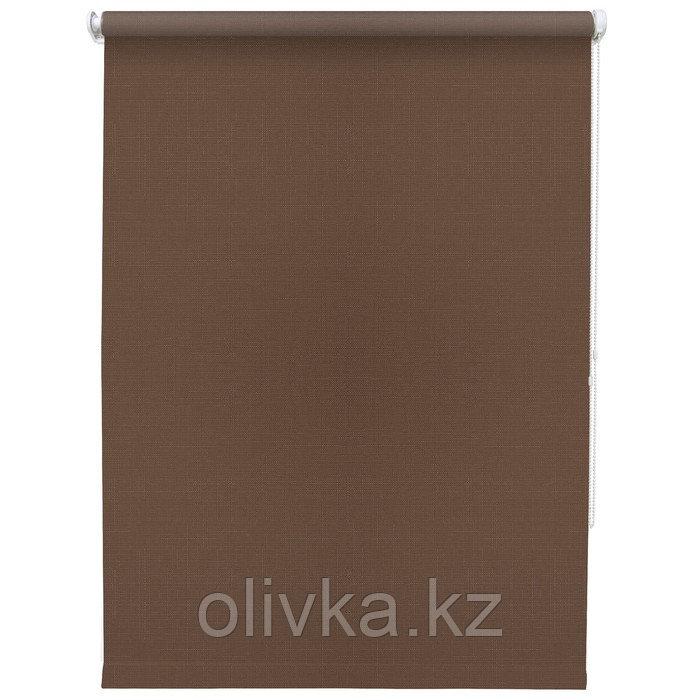 Рулонная штора «Шантунг», 140 х 175 см, цвет шоколад