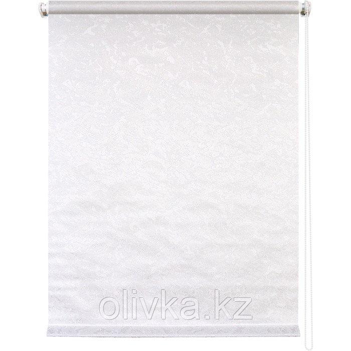 Рулонная штора «Фрост», 140 х 175 см, цвет белый