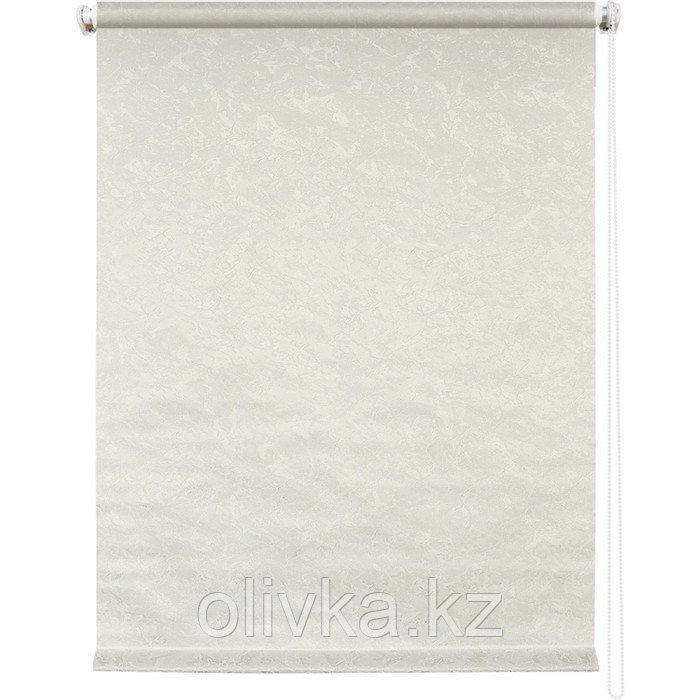 Рулонная штора «Фрост», 140 х 175 см, цвет светло-бежевый
