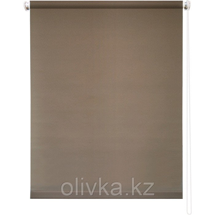 Рулонная штора «Плайн», 120 х 175 см, цвет молочный шоколад