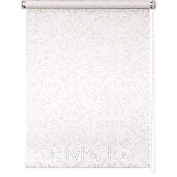 Рулонная штора «Дельфы», 80 х 175 см, цвет белый
