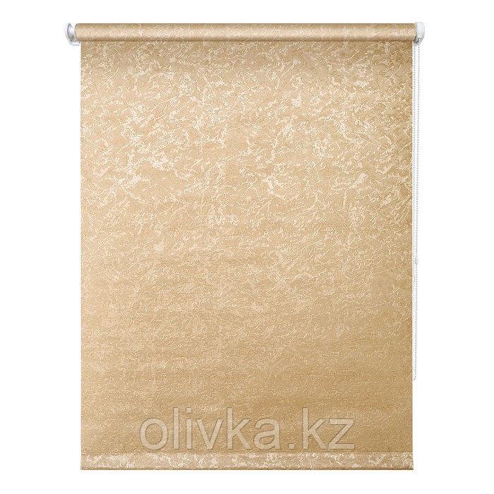 Рулонная штора «Фрост», 100 х 175 см, цвет коричневый