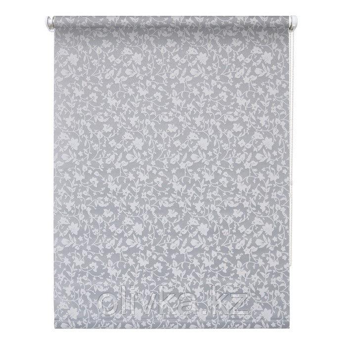 Рулонная штора «Лето», 100 х 175 см, цвет серый