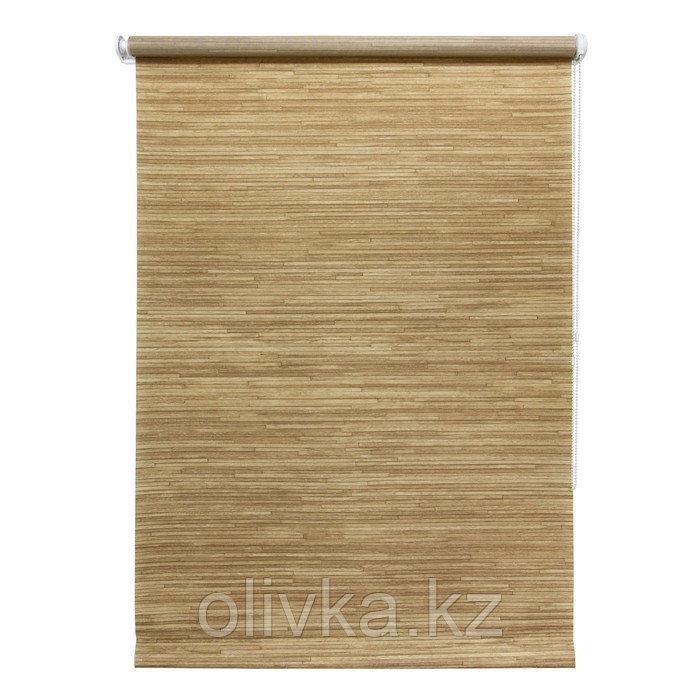 Рулонная штора «Натурэль», 90 х 175 см, цвет коричневый