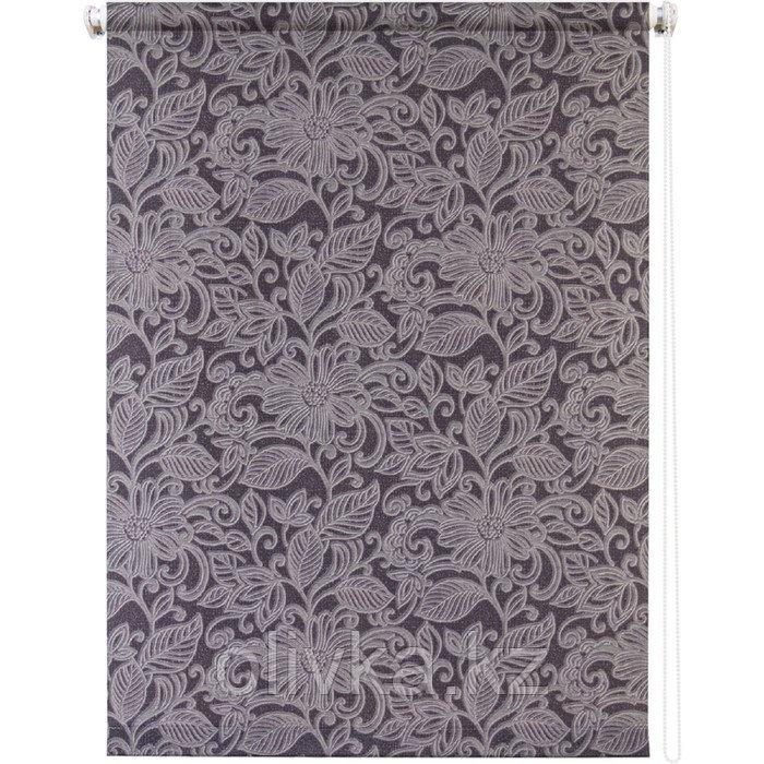 Рулонная штора «Ажур», 80 х 175 см, цвет графит