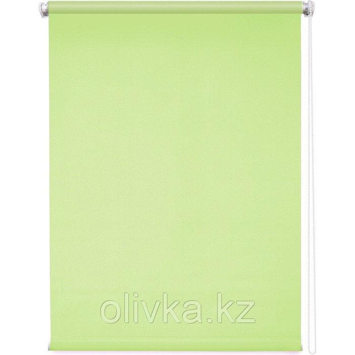 Рулонная штора «Плайн», 140 х 175 см, цвет оливковый