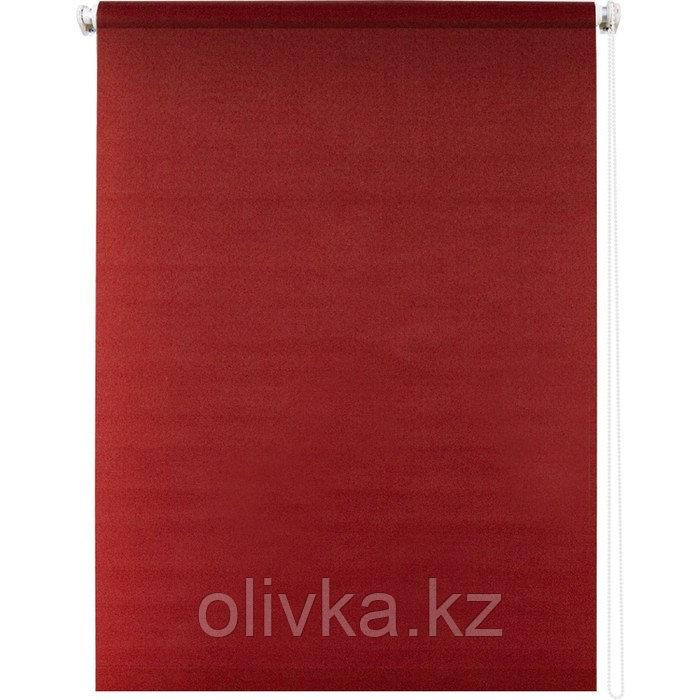 Рулонная штора «Плайн», 140 х 175 см, цвет красный