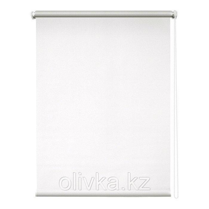 Рулонная штора «Сильвер», 100 х 175 см, блэкаут, цвет белый