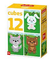Кубики «Лесные животные» (12 шт.), фото 1