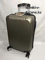 Маленький пластиковый дорожный чемодан на 4-х колесах Longstar.Высота 53 см, ширина 35 см, глубина 25 см., фото 1