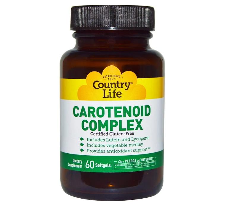 Country Life, Комплекс каротиноидов, 60 мягких желатиновых капсул