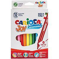 """Фломастеры Carioca """"Joy"""", 12цв., смываемые"""